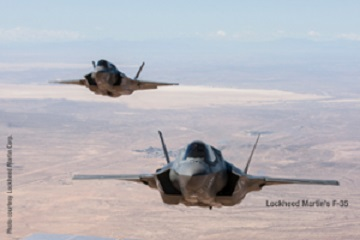 LMCO F 35 IN FLIGHT WITH CREDIT 1